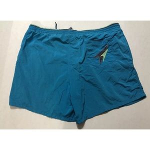 Vintage 90s Aquamarine Speedo Swim Trunks XL